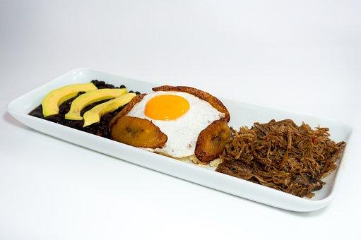 Creole Food, Shredded Beef, Slices, Fried Egg