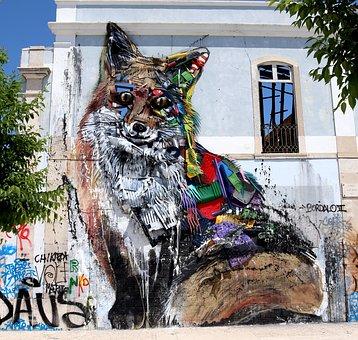 Graffity, Street Art, Wall, Art, Facade, Hauswand