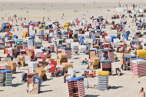 Borkum, Beach, Holiday, Summer, Sand Beach, Relaxation