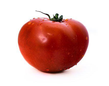Tomato, On A White Background, Tomatoes, Red