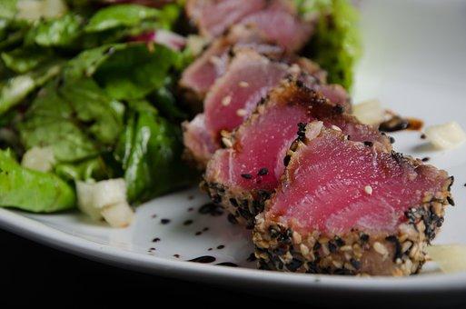 Tuna, Breaded, Salad, Dish, Tasting, Gourmet Food