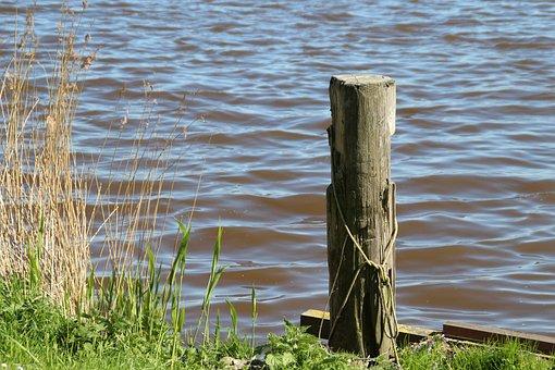 Water, Pier, Lake, Waters, Bollard, Bank, On The Water