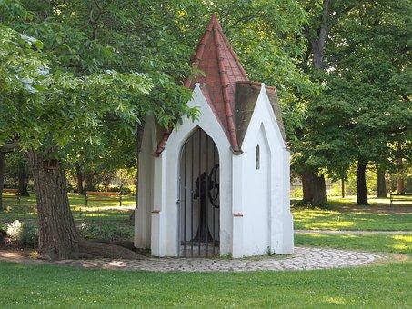 Chapel, Well, Spring, Pump, Faith, Church, Park