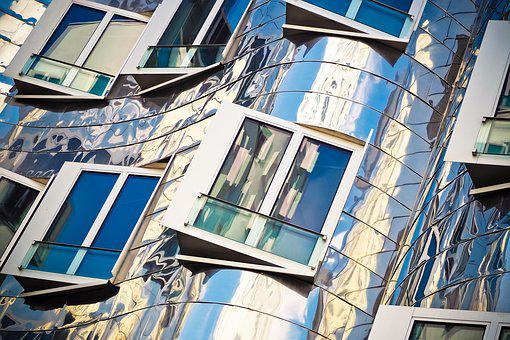 Window, Gehry Buildings, Media Harbour, Architecture