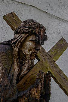 Statue, 80d, Cross, Wooden, Religion, Jesus, Wood