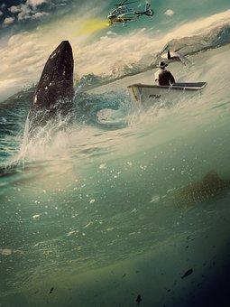 Whale, Fish, Manipulation, Animal, Creature, Sea, Ocean