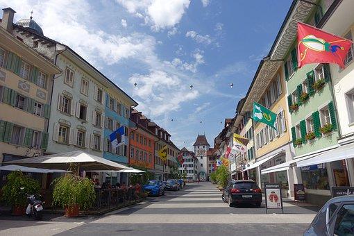 Streetscape, Perspective, Urban, City, Architecture