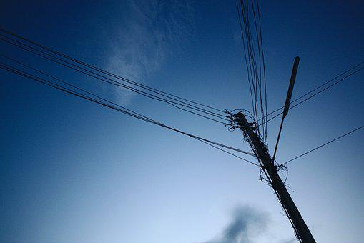 Electric Pole, Sky, Cloud, Blue, Electrical, Telephone
