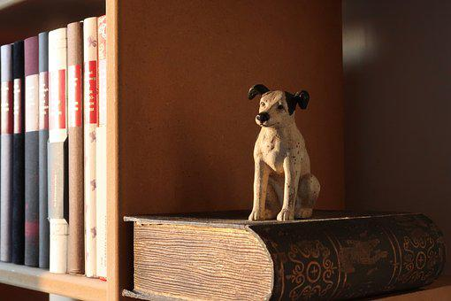 Book Shelf, Buchstütze, Books, Read, Dog, Literature