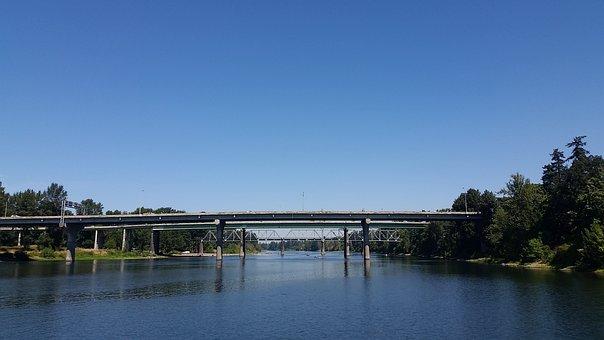 Bridge, Oregon, Willamette, River, Water, Northwest