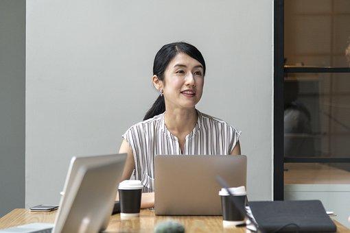 Asian, Business, Businesswoman, Communication, Computer