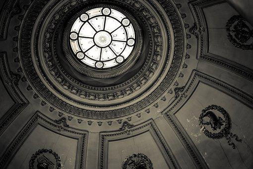 Black And White, Ceiling, Building, Gorgeous