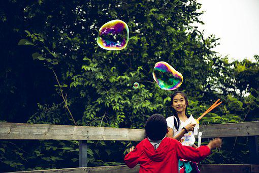 Children, Chinese, Bubble, Kid, Childhood, Young, Smile