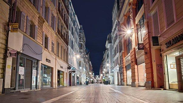 Marseille, Night, Street, France, City, Europe, Travel