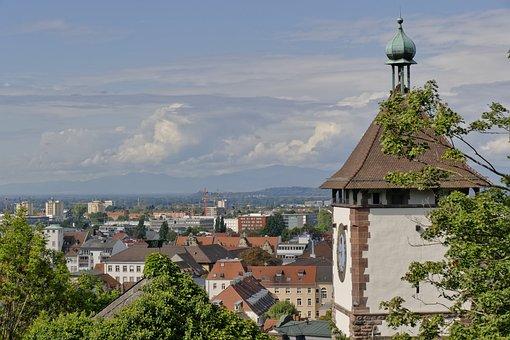 Freiburg, Black Forest, Schwabentor, Clouds, City