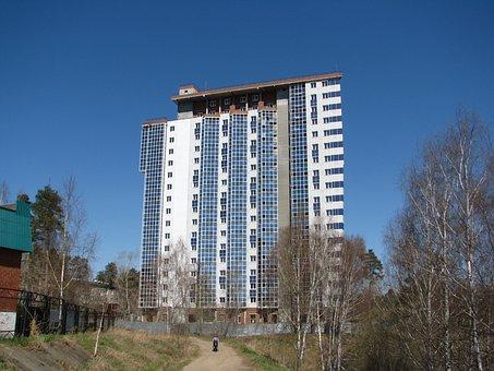 Construction, High House, Blue Sky, Window, House