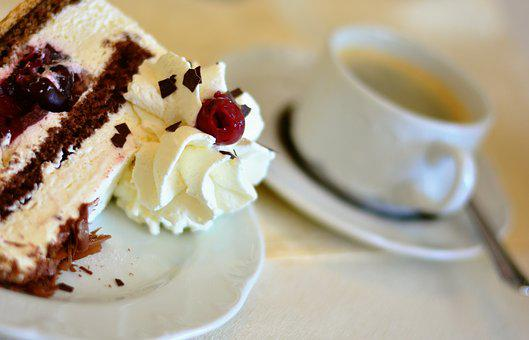 Cake, Cream Cake, Cream, Coffee, Delicious, Sweet Dish