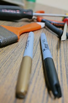 Tweezers, Screwdriver, Brush, Tools, Down, Cable Ties