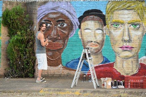 Graphite, Painting, Wall, Drawing, Street, Urban, Mural