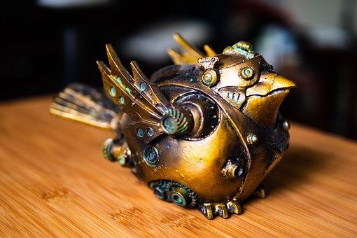 Bronze Bird, Machine Bird, Fantasy