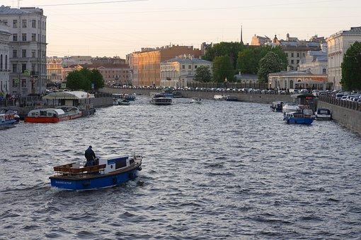 St, Petersburg, Fontanka, River, Sightseeing
