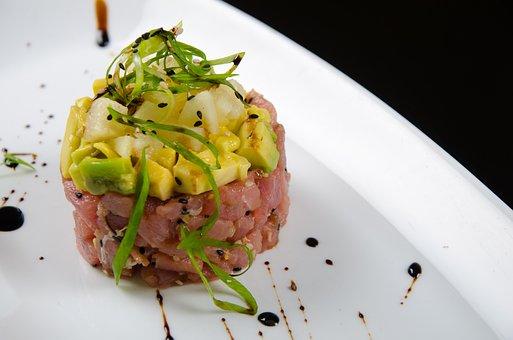 Tartare Di Tonno, Salmon, Avocado, Gourmet Food, Dish
