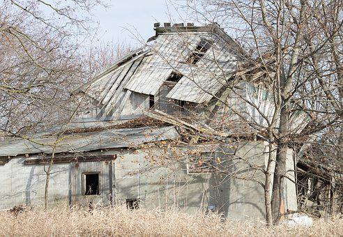 House, Abandoned, Rural, Broken, Haunted, Spooky, Old