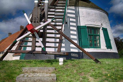 Gistel, Mill, Historic Mill, Wind Mill, Mill Blades