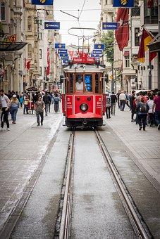 Tram, Taksim Square, City, Taksim, Square, Historical