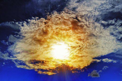 Sunbeam, Clouds, Sky, Cloudiness, Breakthrough, Hope
