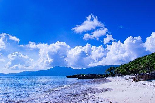 Okinawa, Sea, Sky, Japan, Landscape, Southern Countries