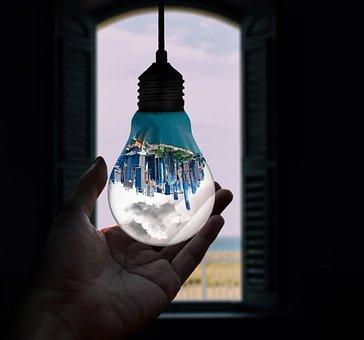 Light, Dark, Art, Design, Month, Water, Reflection