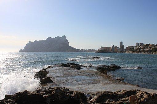 Spain, Calpe, Ifach, Mountain, Sea, Mediterranean