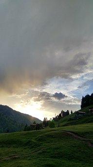 Ayder, Rize, Highland, Sunset, Cloud, Green, Nature