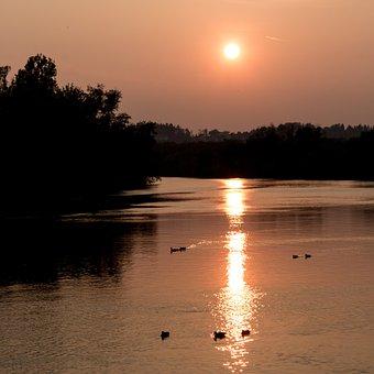 Water, River, Sun, Nature, Flow, Landscape