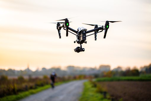 Drone, Bike, Nature, Surveillance, Flight, Camera