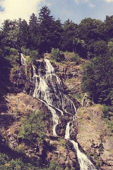 Waterfall, Nature, Water, Landscape, Waterfalls