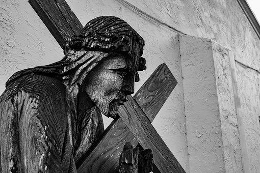 Statue, Wooden, Religion, Sculpture, Wood, Religious