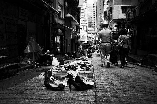 Hong Kong, Black, Black And White, Retro, The Old Man