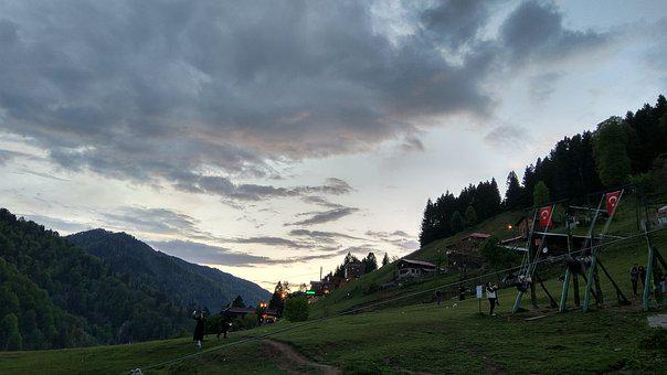 Ayder, Rize, Highland, Nature, Turkey, Sunset