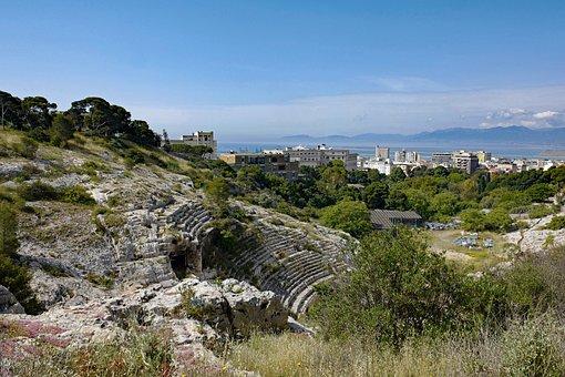 Sardinia, Cagliari, The Roman Amphitheatre, City