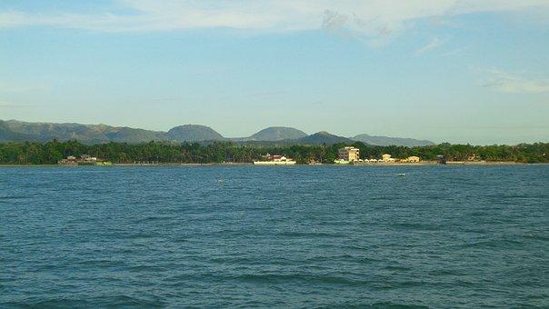 Mountain, Ocean, Sea