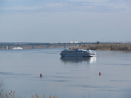 The River Kama, Silence, Sky, Perm Krai, Russia