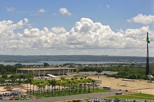 Palace Of The Plateau, Brasilia, Brazil, Sky, Palace