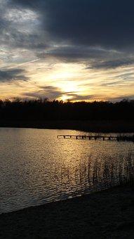 Sunset, Lake, Landscape, Water, Nature, Sky, Sun