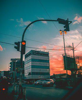 River, Sunrise, Travel, Architecture, City, Urban, Sky