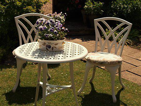 Table, Chairs, Garden, Display