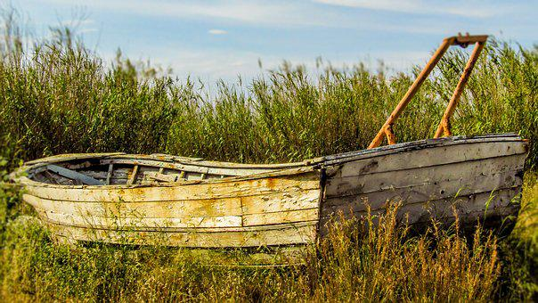 Boat, Old, Abandoned, Navigation, Nautical, Wood