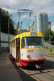 Tram, Vehicle, Ukraine, Odessa, Arcadia