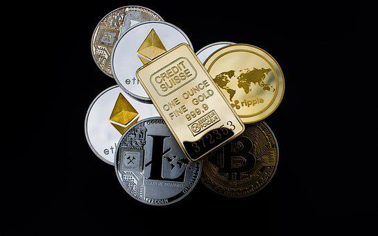 Cryptocurrency, Gold Bar, Concept, Asset, Digital Asset